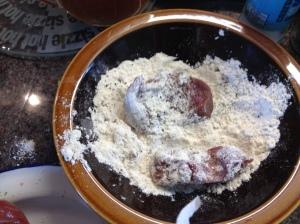Camel dredged in flour