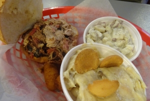 Pulled Pork Sandwich at Smokeys BBQ