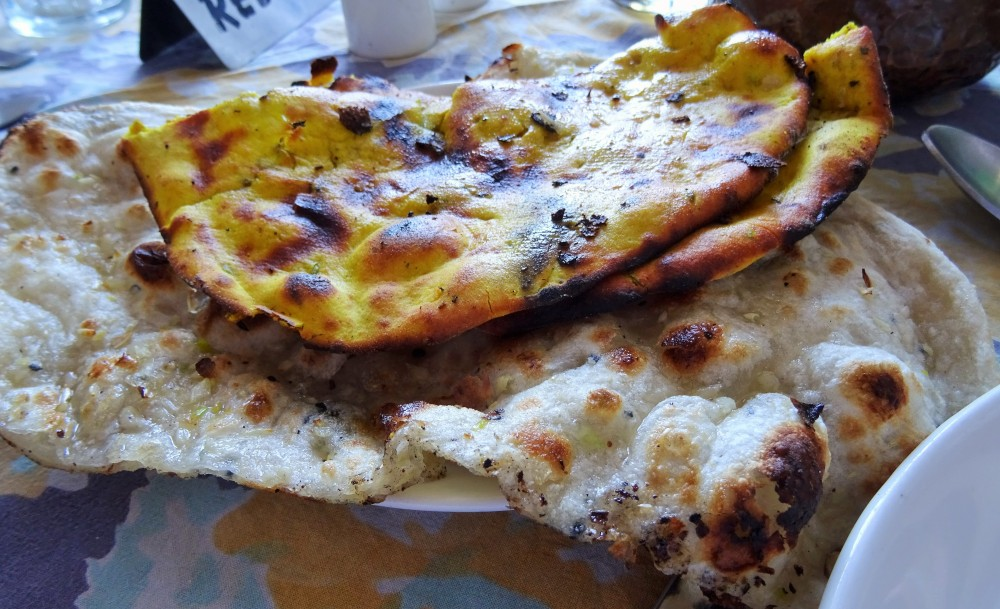 Missi Roti and Garlic Butter Naan at The Royal Treat in Jaipur