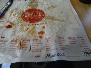 Blaze Pizza Wrapper