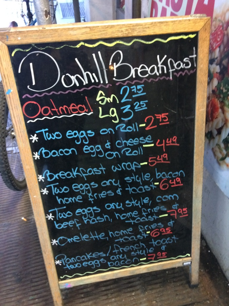 Dunhill Cafe Chalkboard