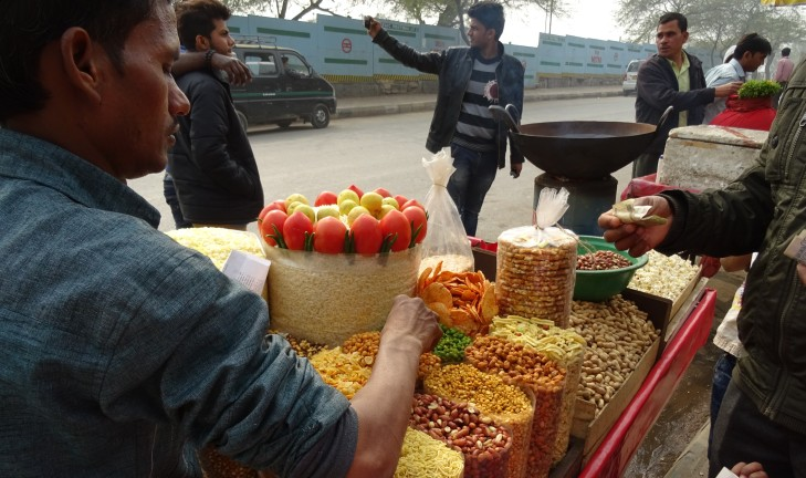 Nuts and Popcorn Stall iin India