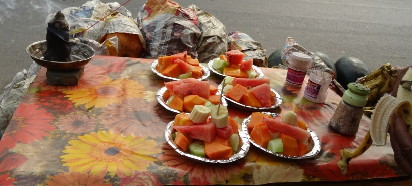 Fresh Fruit Stall at Lotus Temple