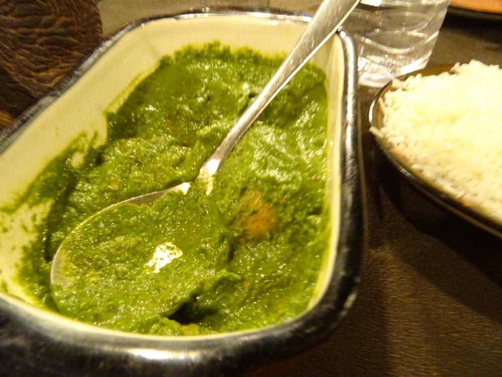 vegetable kofta in spincah