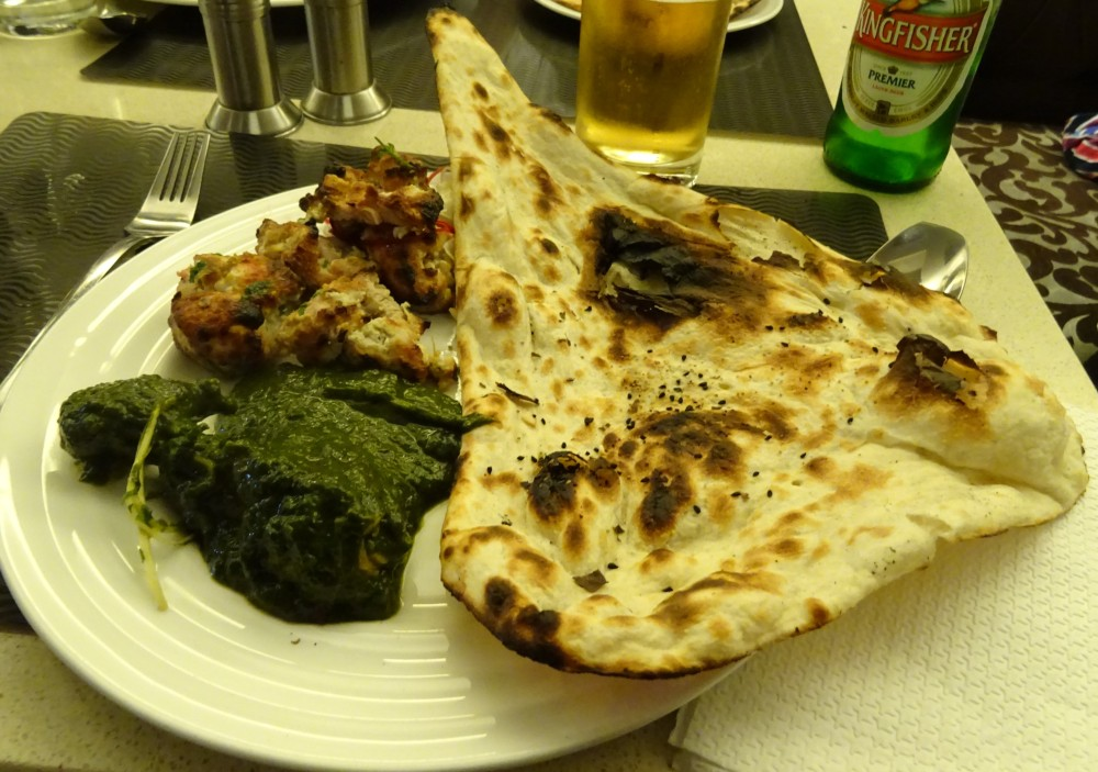 Lunch at the Chicken Inn iin New Delhi