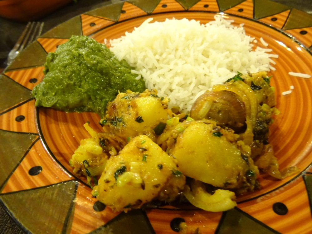 Mixed Plate at The Sitting Elephant in Rishiskesh