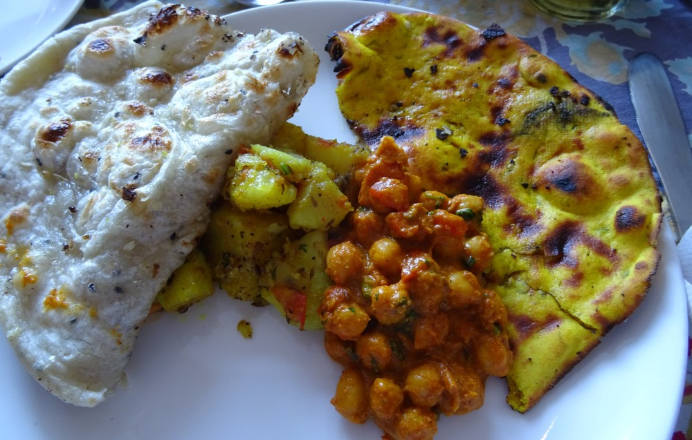 Lunch Plate at the Royal Treat in Jaipur