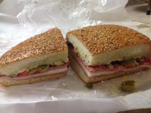 Half a Muffuletta sandwich