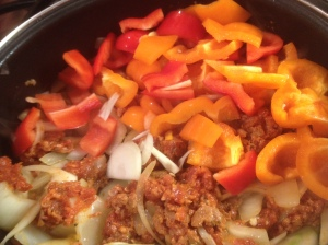Sausage Onion and Peppers