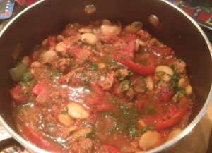 chorizo sausage stew