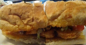 Shrimp and Oyster PoBoy at Full Moon Oyster Bar