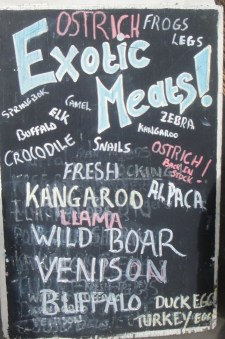 Exotic Meats Board