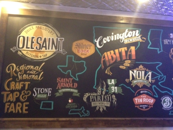 Local beer options Chalkboard