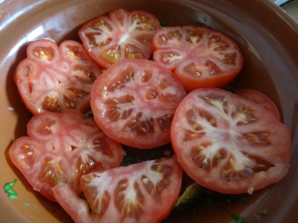 Tagine layered with Tomato