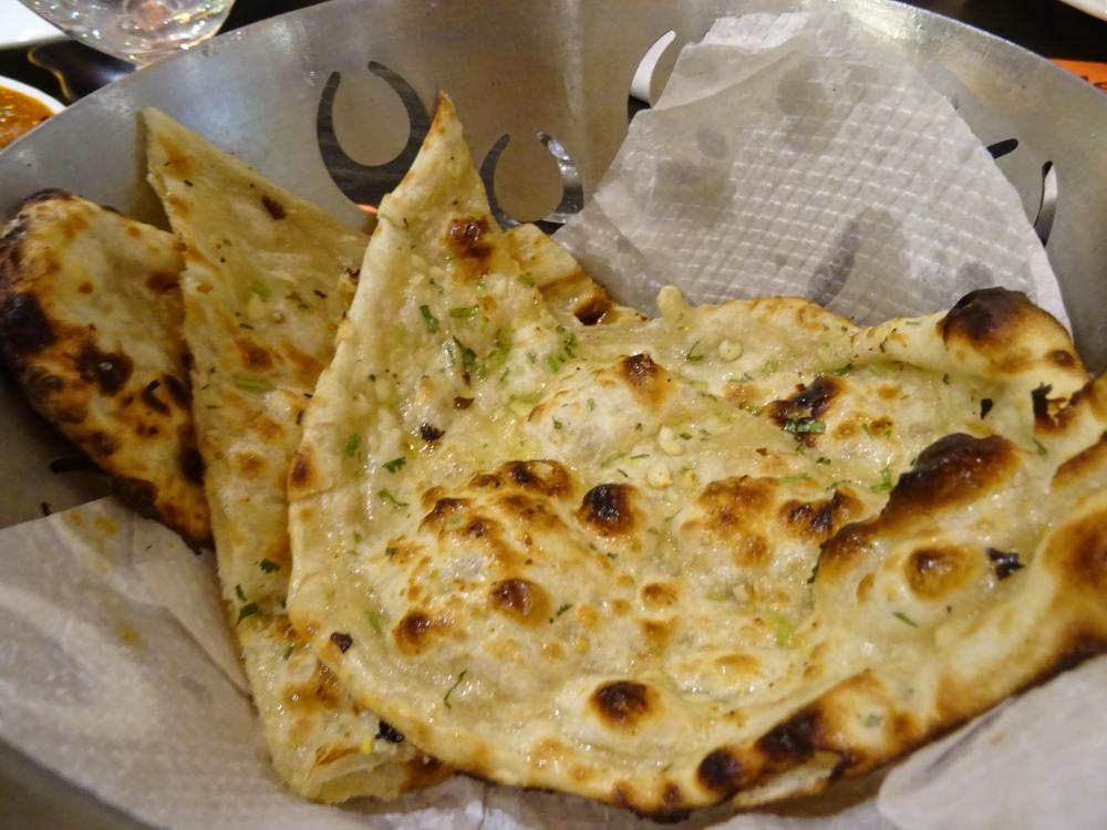 Garlic Naan at the Pinch of Spice