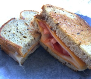 Cheese and Tomato Melt at Brueggers Bagels
