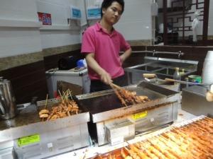 Meat on Skewers at Dongmen