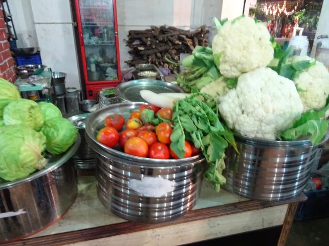 fresh Veg at the Pushkar Inn