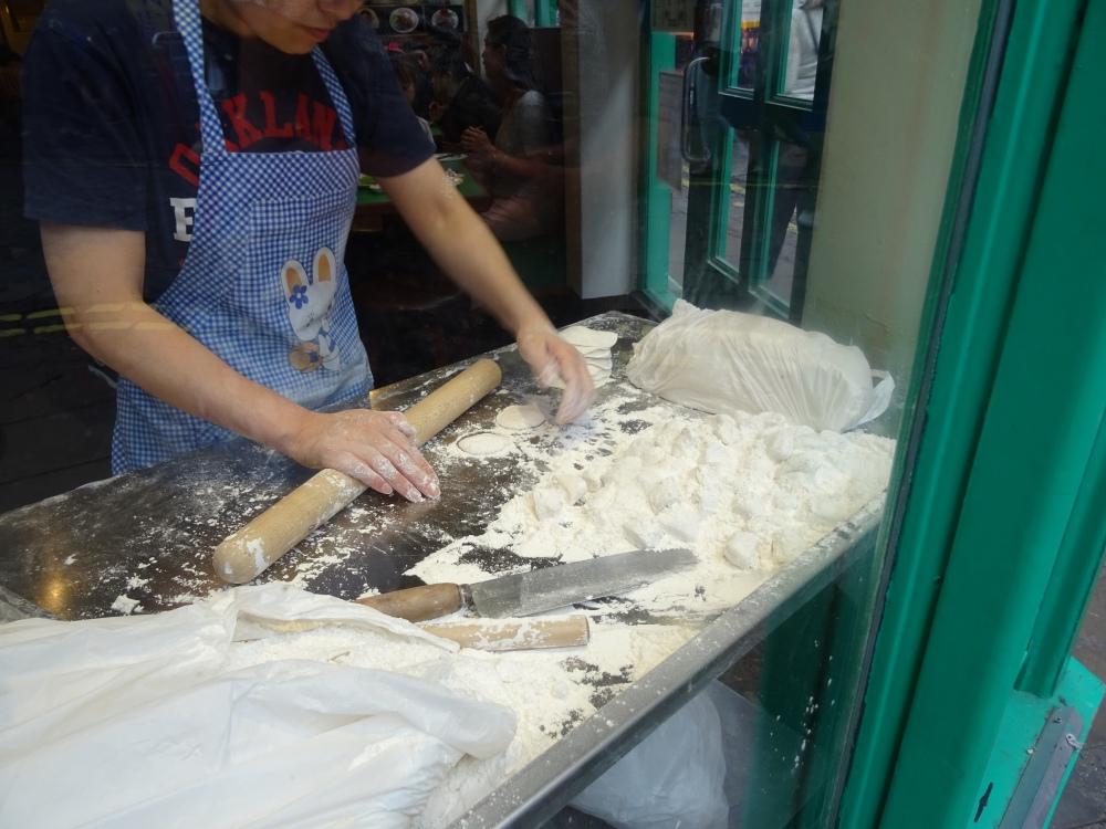 Making Dumplings at Jen Cafe
