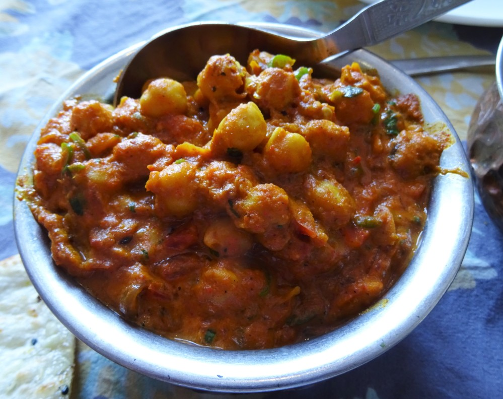 Chickpea Curry at The Royal Treat in Jaipur