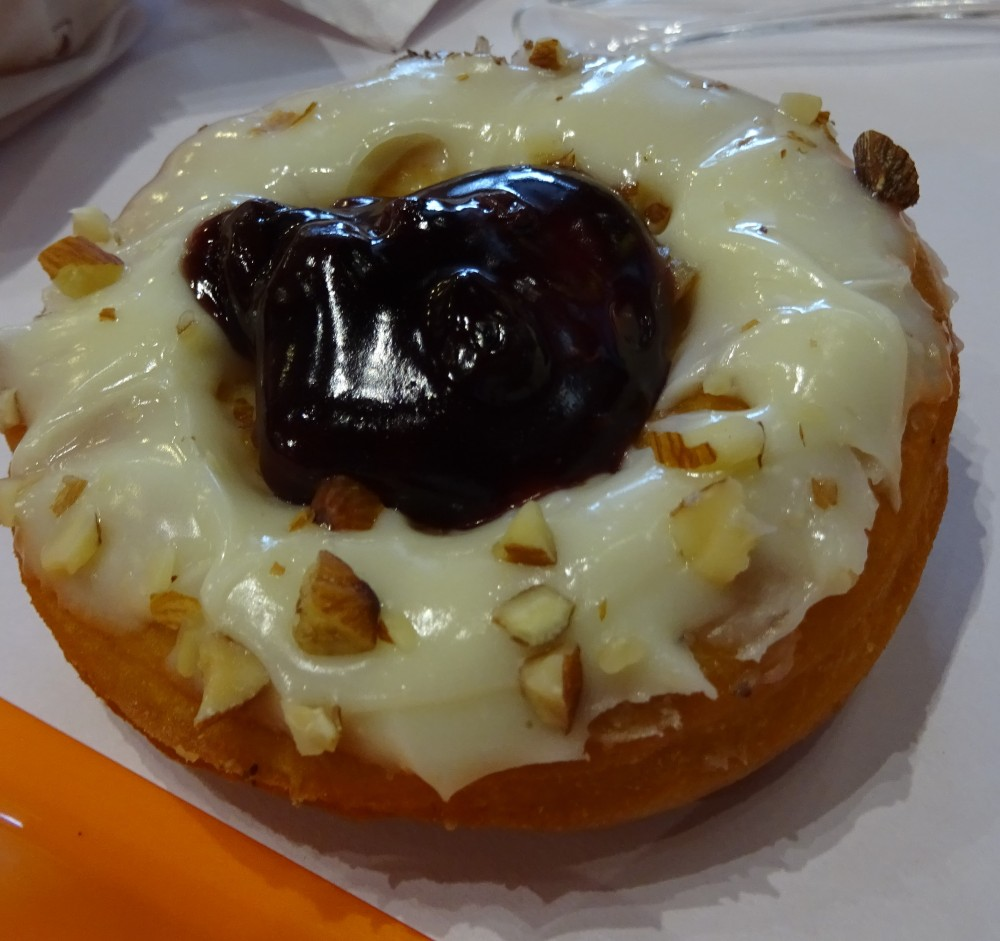 Raspberry donut at Dunkin Donuts