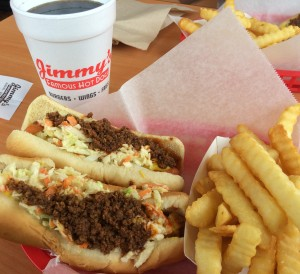 Double Dog Combo at Jimmy Hot Dogs