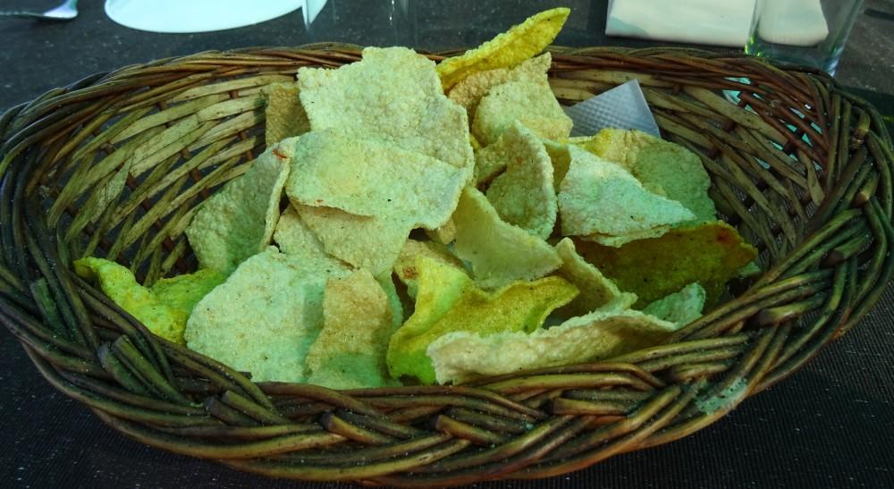 basket of mixed poppadums