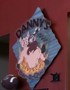 Danny's Bar-B-Que sign