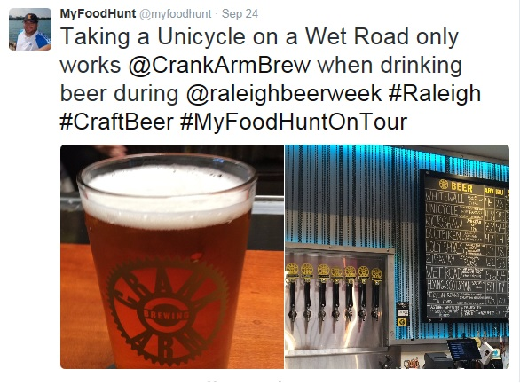 Tweeting at Crank-Arm-Brewery