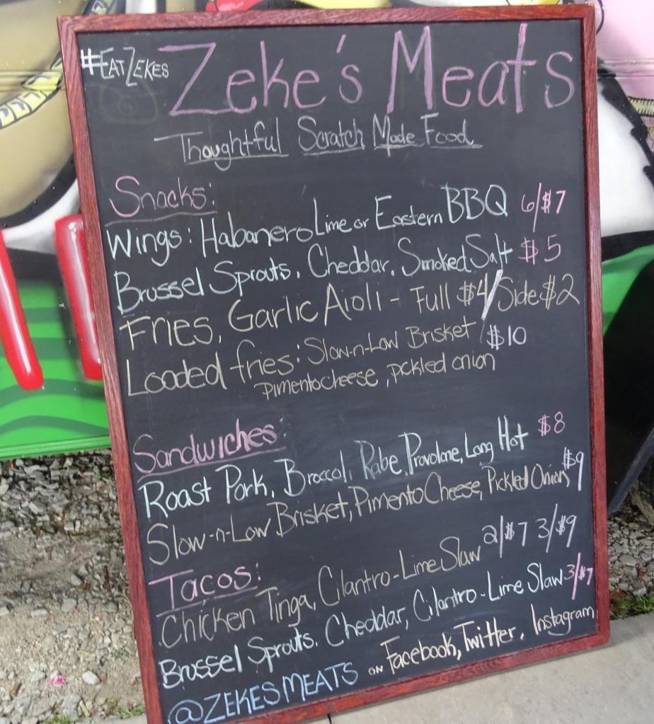 Zekes Meat Chalkboard Menu