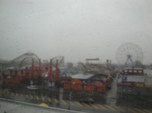 Coney Island from the train