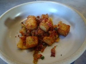 Brunch potatoes and kimchi at Local Provisions