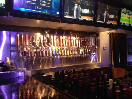 Bar pumps at Deuce McAllisters