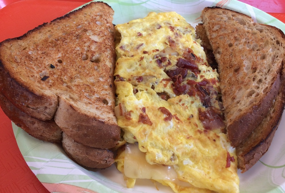 Bacon and Sausage Omelette