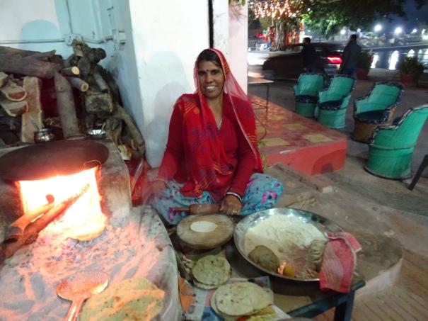 Bread lady in Pushkar