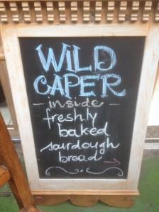 Wild Caper Bread Sign