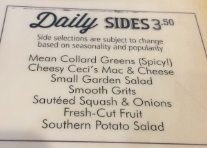 Daily Sides at Dame's Chicken and Wafles