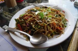 Vegetable Noodles at the Babylon restaurant