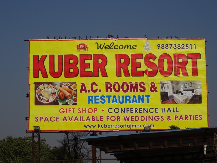 Kuber Resort Sign