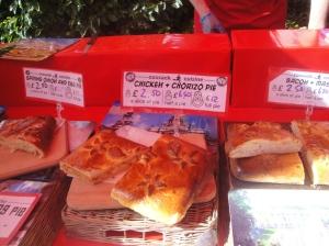 Chorizo and Chicken pie