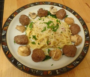 Carbonara with Meatballs