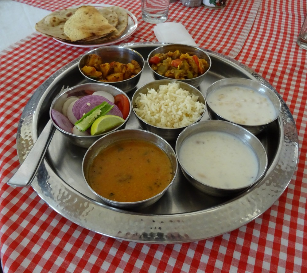 Vegetable Thali at The Kuber Resort