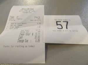 Smokeys BBQ bill