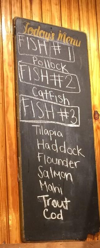 Daily Fresh Fish options at Hymans